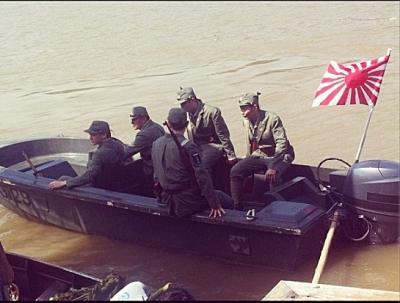 Kobori on a patrol boat