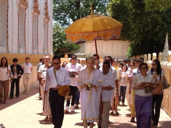parade around the temple