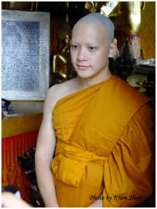 nark Bie now became phra Bie with yellow monk rope