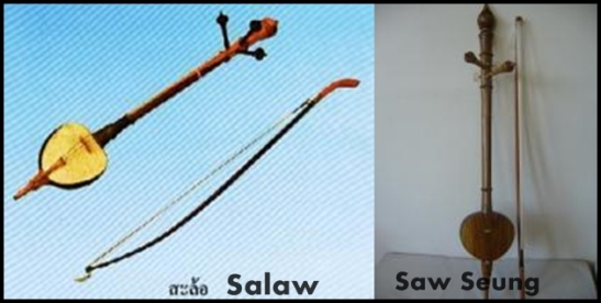 Salaw and Saw Seung, traditional musical instrument from Lana, the Northern part of Thailand