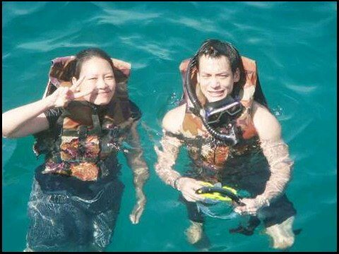 Bie and his sister went scuba diving @