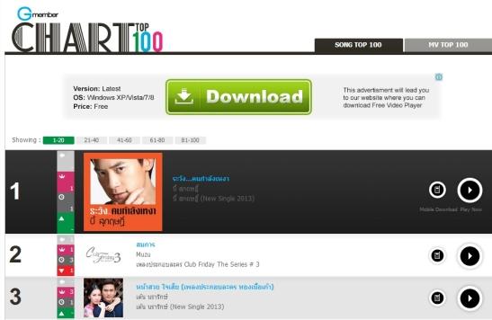 #1 @ Gmember musica chart 10.14.13