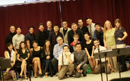 "Cast and crew of ""Behind the Painting"", the musical"