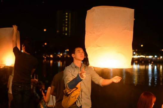 releasing the lantern