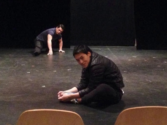 """warm up"" before show time (cr. khun Pornchai)"