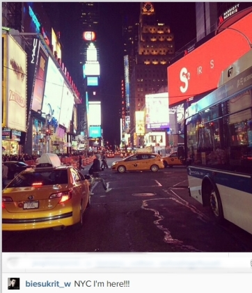 the 1st picture he posted from NYC